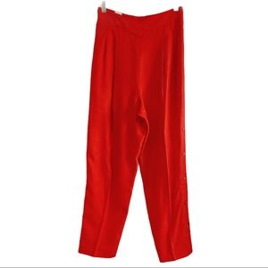 Vintage Simon Change high waist red trousers